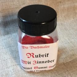 Rubrikersatz – Pulver mit Gummi